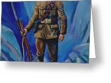 WW 1 Soldier Greeting Card by Derrick Higgins