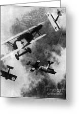Wwi German British Dogfight Greeting Card by Nypl