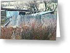 Wyoming Sheds Greeting Card by Lenore Senior