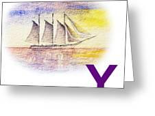Y Art Alphabet For Kids Room Greeting Card by Irina Sztukowski