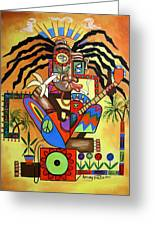 Ya Mon 2 No Steal Drums Greeting Card by Anthony Falbo