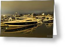 Yacht Greeting Card by Gandz Photography