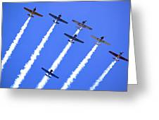 Yak 52 Formation Greeting Card by Phil 'motography' Clark
