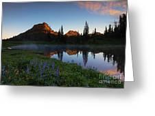 Yakima Peak Sunrise Greeting Card by Mike  Dawson
