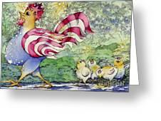 Yankee-doodle-doo Greeting Card by Linda Shelton