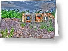 Yard Office Shack Greeting Card by MJ Olsen