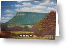 Yeats Country With Benbulben Greeting Card by Sean Conlon
