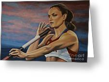 Yelena Isinbayeva   Greeting Card by Paul Meijering