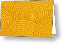 Yellow Abstract Greeting Card by Frank Tschakert