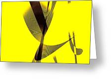 Yellow and Brown  Greeting Card by Mario  Perez