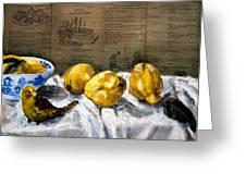 Yellow Bird Greeting Card by Gaye White