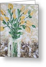 Yellow Bouquet Greeting Card by Molly Roberts