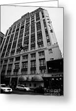 Yellow Cabs Outside Macys Department Store 7th Avenue And 34th Street Entrance New York Greeting Card by Joe Fox
