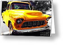 Yellow Chevy Greeting Card by Garren Zanker