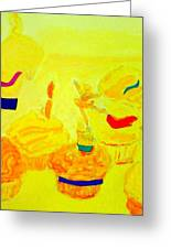 Yellow Cupcakes Greeting Card by Suzanne Berthier