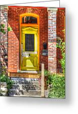 Yellow Door Greeting Card by Liane Wright