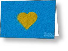 Yellow Heart Greeting Card by Tim Gainey
