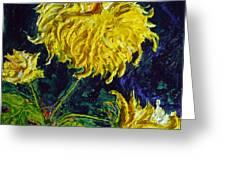 Yellow Mum Greeting Card by Paris Wyatt Llanso