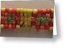 Yellow Orange Red And Green Bracelet Greeting Card by Kimberly Johnson