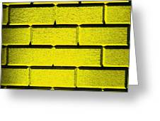 Yellow Wall Greeting Card by Semmick Photo