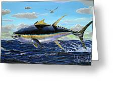 Yellowfin Crash Off0081 Greeting Card by Carey Chen