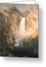 Yellowstone Greeting Card by Albert Bierstadt