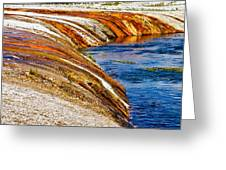 Yellowstone Earthtones Greeting Card by Bill Gallagher