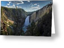 Yellowstone River Lower Falls Greeting Card by Michael J Bauer