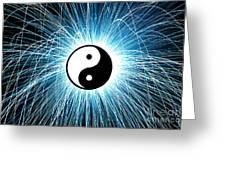 Yin Yang Greeting Card by Tim Gainey