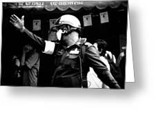 Ymca Cop Greeting Card by A Rey