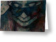 Yoko  I Don't Know Why Greeting Card by Paul Lovering