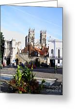 York Bootham Barr Greeting Card by Neil Finnemore