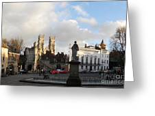 York Gallery Square Greeting Card by Neil Finnemore