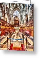York Minster V Greeting Card by Jack Torcello