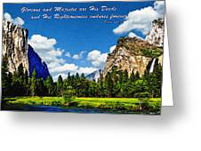 Yosemite Gods Country Greeting Card by  Bob and Nadine Johnston