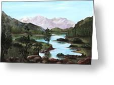 Yosemite Meadow Greeting Card by Anastasiya Malakhova