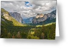 Yosemite Valley Greeting Card by Sarit Sotangkur
