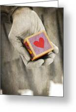 You Hold My Heart In Your Hand Greeting Card by Edward Fielding