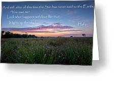 You Owe Me Greeting Card by Bill Wakeley