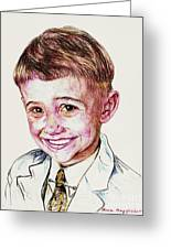 Young Boy Greeting Card by PainterArtistFINs Husband MAESTRO