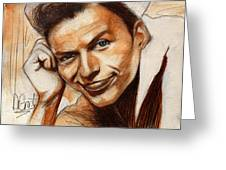Young Frank Sinatra Greeting Card by Gregory DeGroat