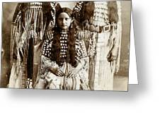 Young Kiowa Belles 1898 Greeting Card by Unknown