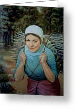 Young Peasant Greeting Card by Laila Awad  Jamaleldin
