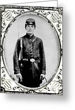 Young Union Soldier Greeting Card by American School