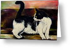 Your Pets Commission Me To Paint Greeting Card by Carole Spandau