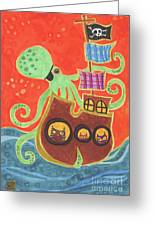 You've Been Pirated Greeting Card by Kate Cosgrove