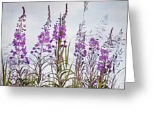 Yukon State Flower Greeting Card by Priska Wettstein