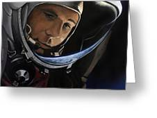 Yuri Alekseyevich Gagarin Greeting Card by Simon Kregar