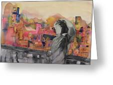 Z And The City Greeting Card by Carolyn Doe