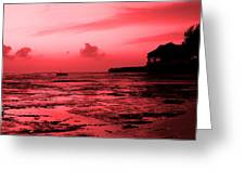Zanzibar Sunrise Greeting Card by Aidan Moran